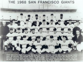 1968 SAN FRANCISCO GIANTS 8X10 TEAM PHOTO BASEBALL PICTURE MLB B/W - $3.95