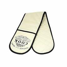 Luxe Cuisine Vintage 100% Pure Coton Gants de Double Moufle Mitaines Crème - $12.79