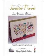 Les Oiseaux Bleus I cross stitch chart Jardin Prive - $9.00