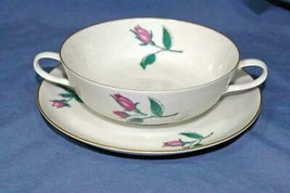 Rosenthal Darling Rose Cream Soup And Saucer Set 8 oz #3133 - $29.69