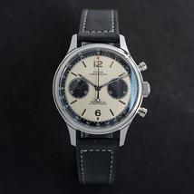 Stainless steel luminous watch mechanical seagull ST1901 movement 1963 chronogra - $286.67+