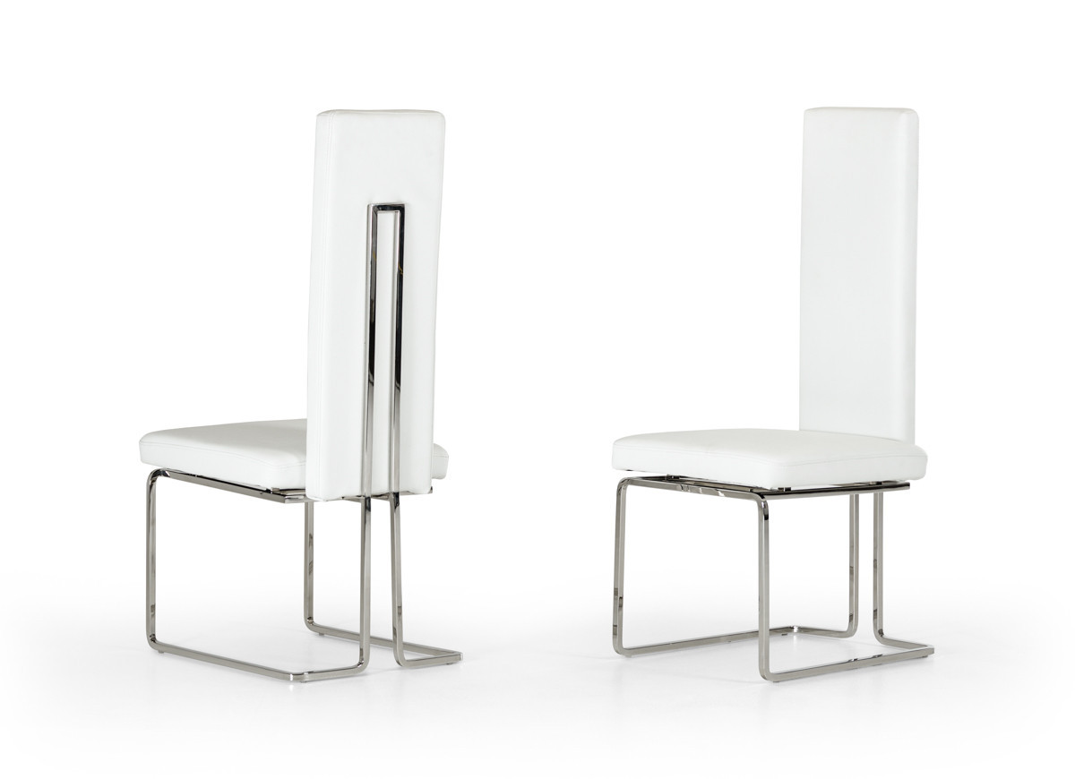 Enjoyable Arcadia Modern White Dining Chair Set Of And 50 Similar Items Ibusinesslaw Wood Chair Design Ideas Ibusinesslaworg