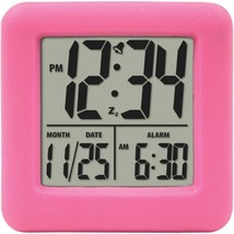 Equity by La Crosse 70902 Soft Cube LCD Alarm Clock (Pink) - $33.48