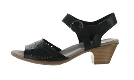 Earth Leather Two-Pc Heeled Sandals- Carson Westport Black 10M NEW A352408 - $85.12
