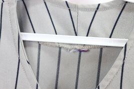 Vintage 90s Mens XL New York Yankees MLB Baseball Jersey Pinstripe Gray Blue image 5
