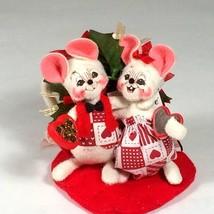 annalee felt mice sweetheart couple chocolates engagement anniversary gift - $38.81