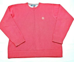 Tommy Hilfiger Mens Crew Neck Heavy Knit Sweater Size XL Red - $17.34