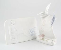 Lladro de Collection Society Défiler Avec / Colombe Et Quichotte Plaque ... - $104.55