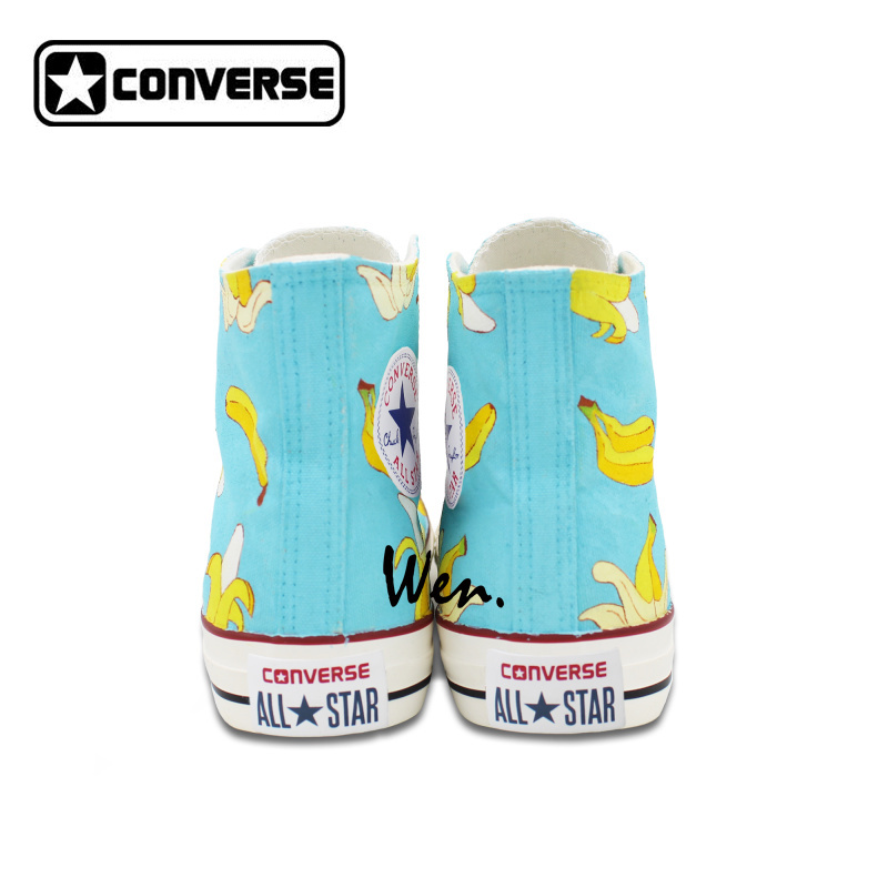 Original Design Converse All Star Shoes Hand Painted Bananas Canvas Sneakers