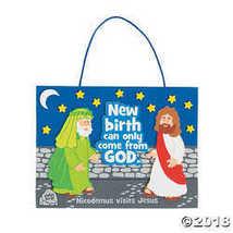Jesus Meets Nicodemus Sign Craft Kit - $5.34