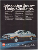 Original 1977 Introducing the new Dodge Challenger GT Vintage Print Ad - $7.49
