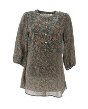 Liz Claiborne NY Mixed Print Tunic Thyme Multi XS NEW A268673 - $41.56