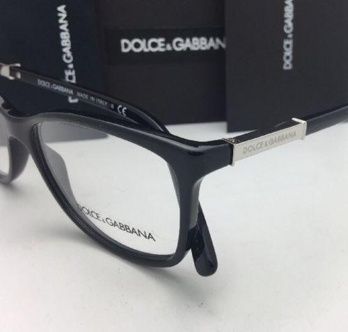 b124cfd75ce New DOLCE   GABBANA Rx-able Eyeglasses DG 3107 501 54-15 140 Shiny Black  Frames