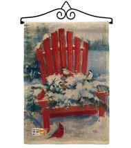Red Chair in Winter Burlap - Impressions Decorative Metal Wall Hanger Ga... - $33.97