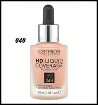 Catrice HD Liquid Coverage Foundation Lasts Up to 24H Mattifying # 040 30ml - $13.15