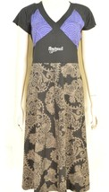 Desigual dress SZ S  black brown blue fit top flare bottom paisley short... - $39.59