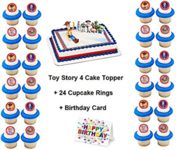 Toy Story Cake Topper Set Cupcake Birthday Supplies Favors 27PCS - $22.72