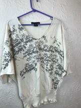 Calvin Klein Jeans Women's Dolman Sleeved Beige Embellished sweater size... - $12.16