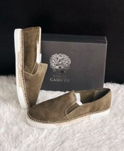 ✨New Vince Camuto Tambie Slip On Sneakers Suede Olive Womens Size 8.5M $99 Nib - $41.90
