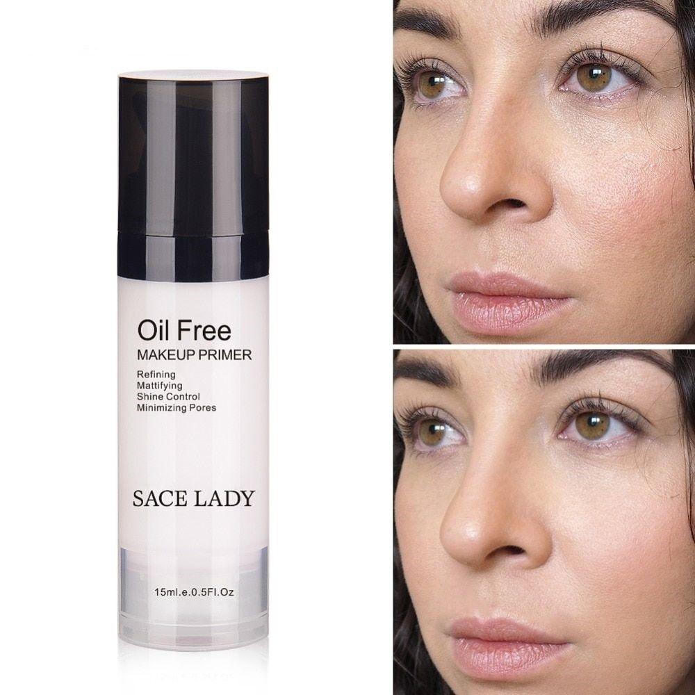 Face Makeup Primer Oil Free Professional Base Make Up Matte Foundation Pores
