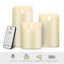 """Flameless LED Candles, 4"""" 5"""" 6"""" H, Pack of 3, Battery Operated - Real Wa... - $16.36"""