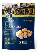 AZNUT Roasted Hazelnuts Natural, Unsalted, Dry Roasted, 16 oz 1 Pack