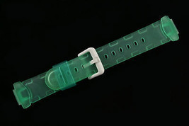 Baby-G 14mm Green Clear Casio Rubber RESIN Watch Band STRAP BG-151 - $19.75