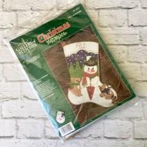 Bucilla Christmas Felt Stocking Kit Gallery Of Stitches 15 Inches New US... - $29.69