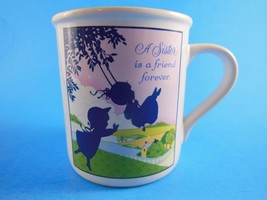 Vintage Hallmark A Sister Is A Friend Forever Collectible Mug Cup  1984 ... - $9.89