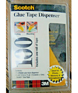 Scotch 100 Glue Tape Dispenser + 1 Tape, Permanent, Repositionable Made ... - $10.39