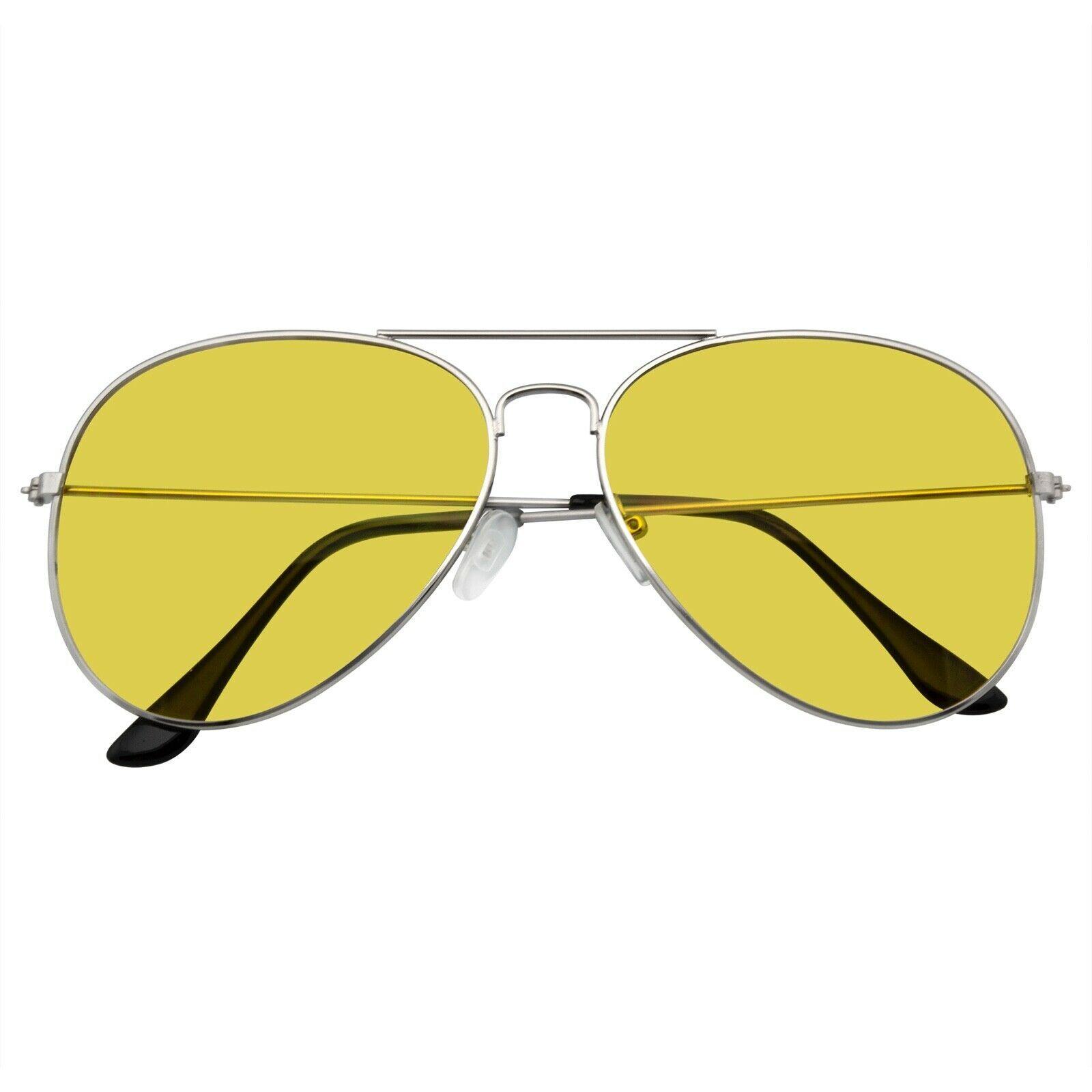 Gafas de Sol Noche Conducción UV400 Hombre Mujer Vision Amarillo Lente Unisex - $11.46