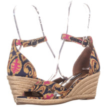 Nine West Jeranna Wedge Heel Espadrilles Sandals, Blue Multi, 8 US - $25.91