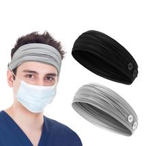 3pcs Men Sport Headband Male Elastic Fitness Sweatband Hairband Workout ... - $14.99