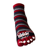 George Jimmy Soft Cotton Home Socks Sweet Tube Cartoon Toe Scoks - $12.22