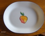 Corelle Corning Fruit Basket Platter Serving Plate Dish 12-1/4 inch Peach Plate