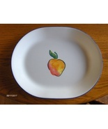 Corelle Corning Fruit Basket Platter Serving Plate Dish 12-1/4 inch Peac... - $29.99