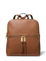 New Michael Kors Rhea Medium Pebbled Slim Backpack Luggage NWT - $177.21