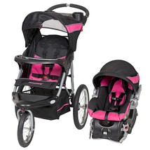Baby Stroller And Car Seat Travel System Infant Jogging Girls Pink FREE SHIP - $229.92
