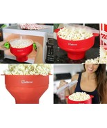 Microwave Popcorn Popper, Silicone Popcorn Maker, Collapsible FREE SHIP... - £12.89 GBP