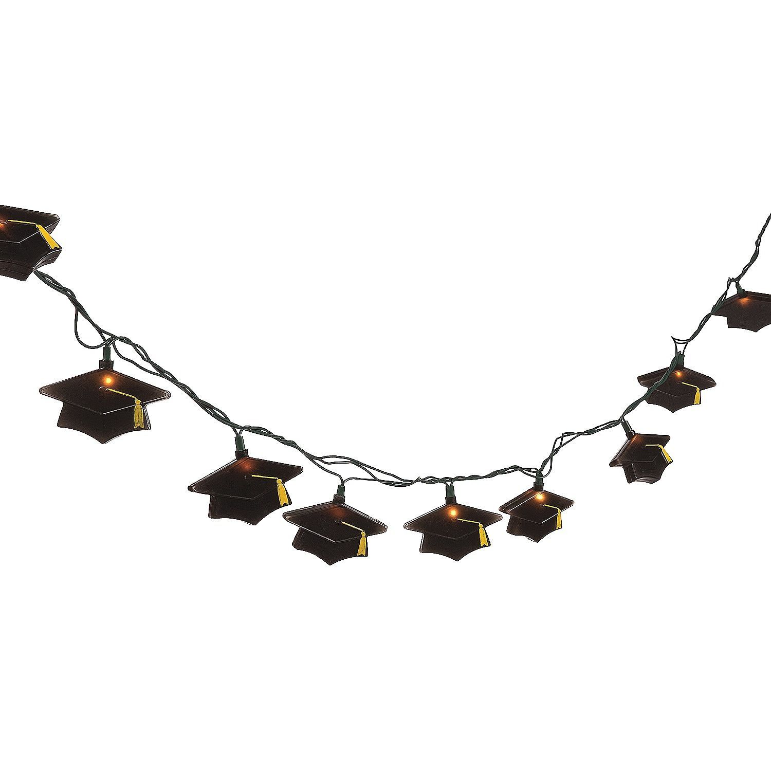 Graduation Hat Decorative Light String Set - Grad Party Decoration - Mortar, Cap