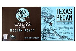 HEB cafe ole Texas pecan single serve coffee 54 count - $46.97