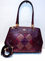 NWT COACH Brooke Carryall Oxblood Patchwork Leather F34890 MSRP $495 - $235.00