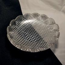 "American Brilliant Period Low Bowl Strawberry Diamond and Fan 8"" x 1 1/2"" - $22.95"