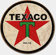 Texaco Gas Oil '36 Gasoline Pump Metal Sign Tin New Vintage Style USA #1798 - $10.29