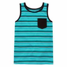 Okie Dokie Boys Tank Top Adriatic Aqua Stripe Size Large (6) Preschool  ... - $9.89