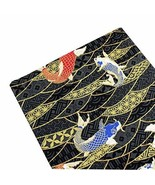 DRAGON SONIC Japanese Style DIY Fabric Material Clothing Fabric Koi Pattern - $14.20