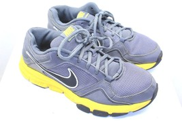 Nike air flex mens athletic shoes size 8 grey and yellow nice condition ... - $29.72
