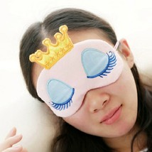 Crown Eyeshade Eye Cover Sleeping Mask Lovely Long Eyelashes Patch 2Pcs - $9.22 CAD