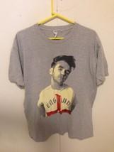 Morrissey  mens L 2014 Solo Tour T-Shirt Tee England Gray T-Shirt Tee Concert - $22.77