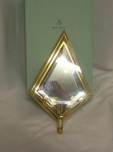 PartyLite Infinity Sconce Solid Brass Glass Insert Mirrored Back Strikin... - $17.77